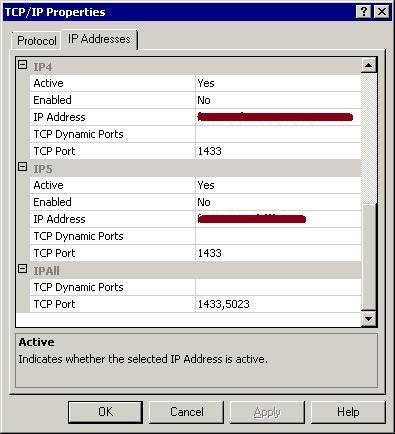 Config Manager adding port
