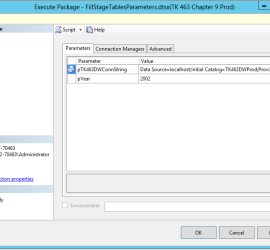 Executing a package using SSMS